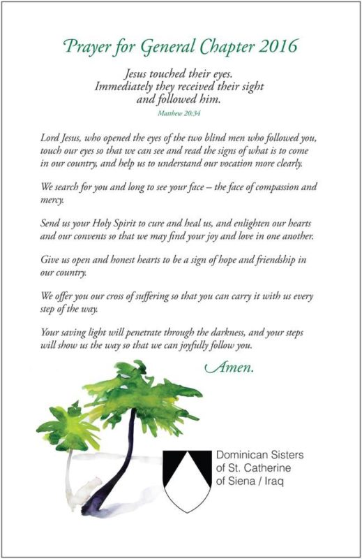 Chapter Prayer for Iraqi Sisters